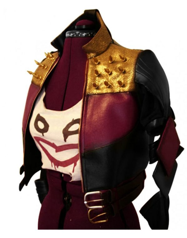 harley quinn injustice 2 purple jacket