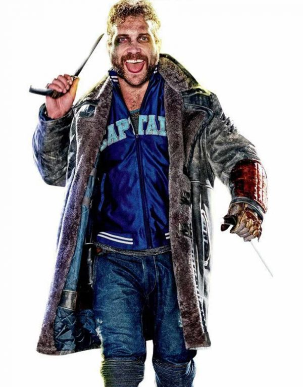 captain boomerang leather coat