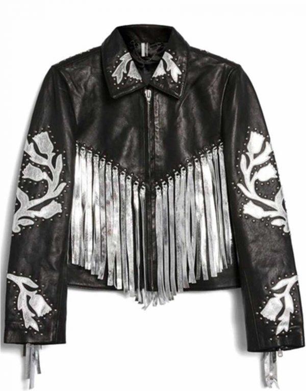 harley-quinn-bird-of-prey-fringe-leather-jacket